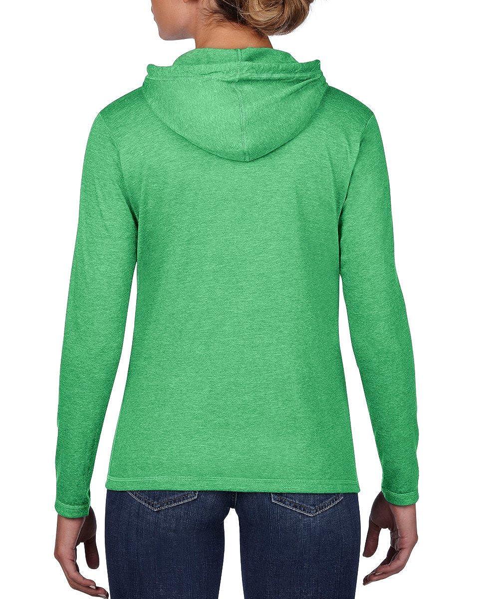 Anvil Women's Basic Long Sleeve Hooded T-Shirt 887L