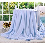 """DANGTOP Air Conditioning Cool Blanket with Bamboo Microfiber- Summer Thin Quilt Lightweight for Adults and Teens(79""""X91"""",Large Blue)."""