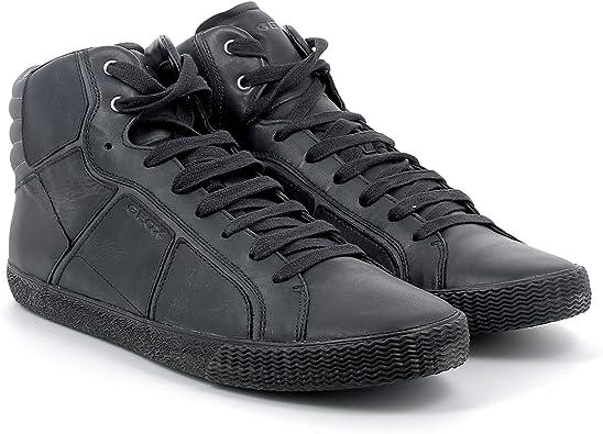 Geox U Smart R, Hi Top Slippers Homme Noir Noir, 46