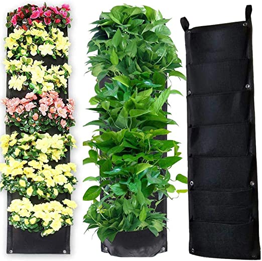 Scottpown Hogar Jardín Decoración Plantas Bolsa de pared Manta de siembra 7 bolsillos Bolsas: Amazon.es: Jardín