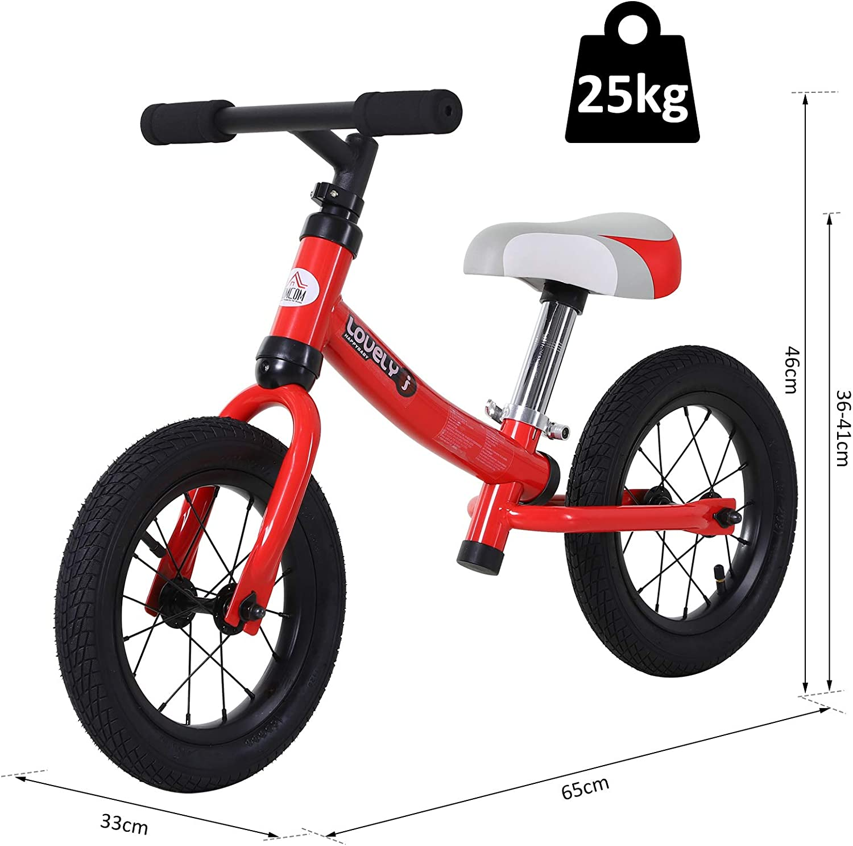 HOMCOM Bicicleta sin Pedales Sillín Regulable 31-45cm Recomendado ...