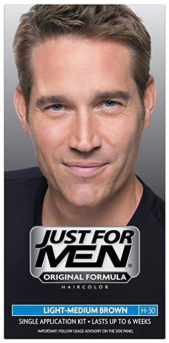 Amazon.com : Just For Men Shampoo-In Hair Color - Light-Medium Brown ...