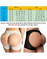 Kiwi-Rata Women's Butt Lifter Panties shape bum area Boy Shorts Enhancer Shaper Panty