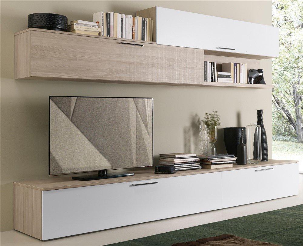 Parete tv attrezzata parete tv attrezzata with parete tv attrezzata finest parete attrezzata - Parete mobile in cartongesso ...