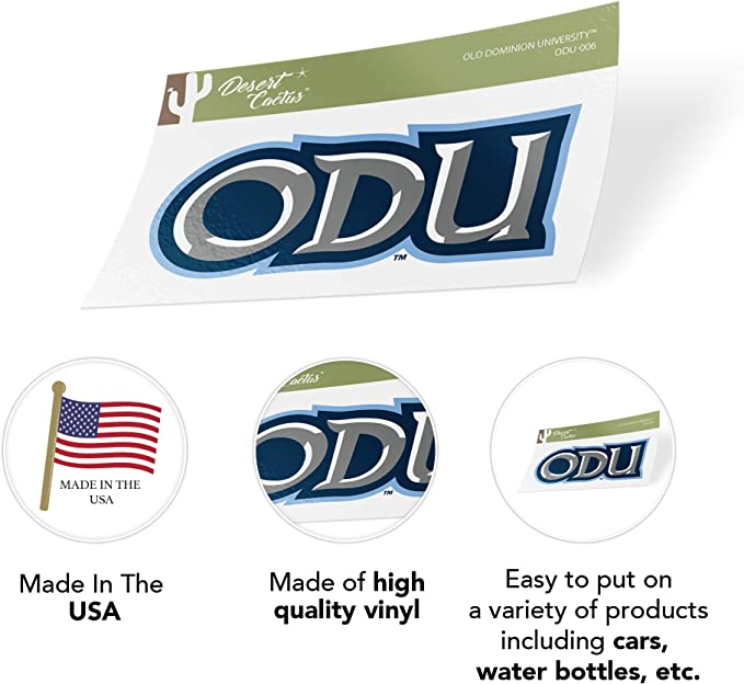 Sticker - 005 Old Dominion University ODU Monarchs NCAA Vinyl Decal Laptop Water Bottle Car Scrapbook