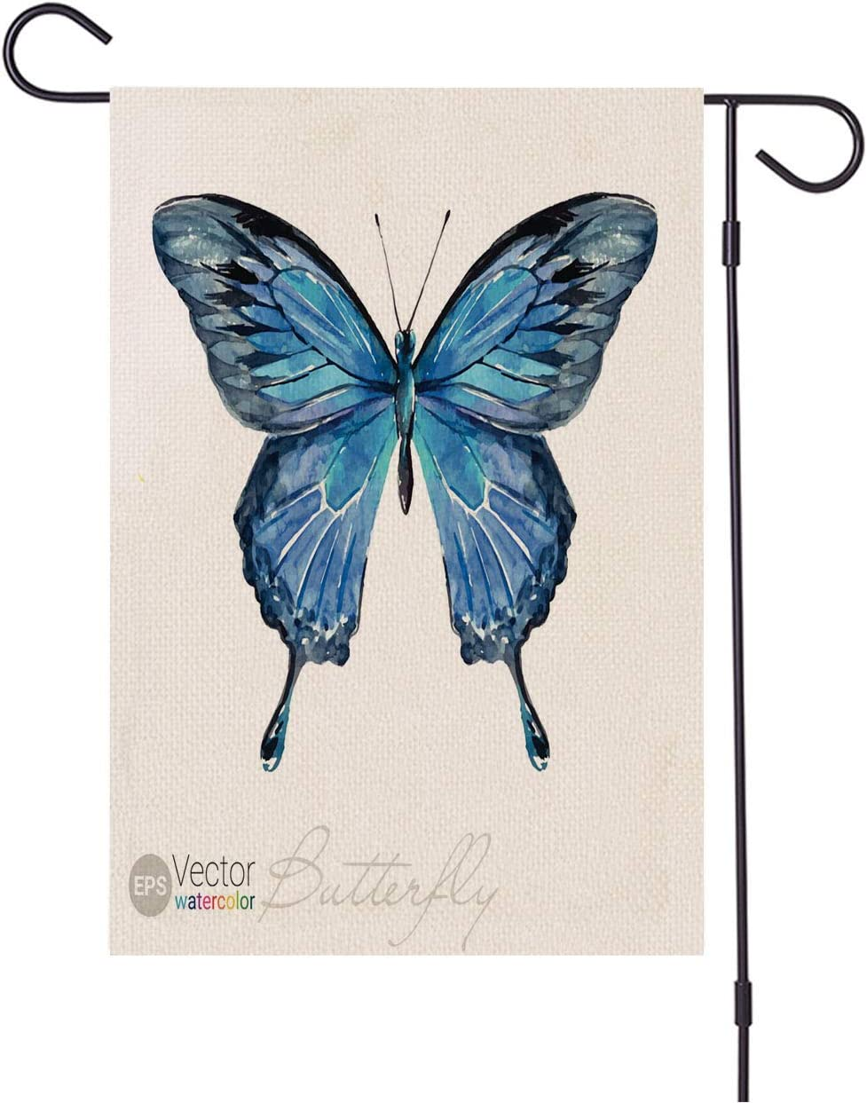Amazon Com Watercolor Family Garden Banner Vector Watercolor Butterfly The Garden Flags For Outdoor Decoration Of Houses And Gardens Make Life Better All Weather Anti Fading Material Sided Polyester 28x40inch Garden Outdoor