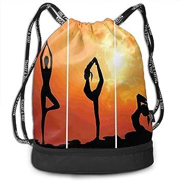 RAINNY Woman Practice Yoga School Drawstring Bag Backpack ...