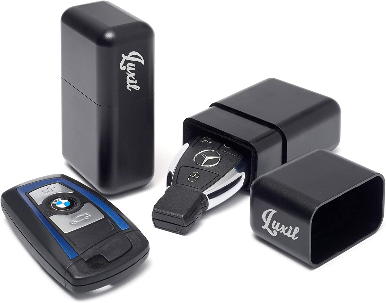 Luxil Keyless Car Key Signal Blocker Box Key Safe Box | Soft Velvet Lining | Aluminium Anti-Theft Faraday Case for Car Keys, 1 Pack Keyless Entry RFID Signal Blocker Case for Car Key Fob