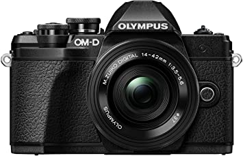 Olympus OM-D E-M10 Mark III Kit, Cámara de Sistema Micro 4/3 (16 MP, Estabilizador de Imagen de 5 Ejes, Visor Electrónico) + Objetivo Mo 14-42mm EZ Zoom + Mo 40-150mm Telezoom, negro