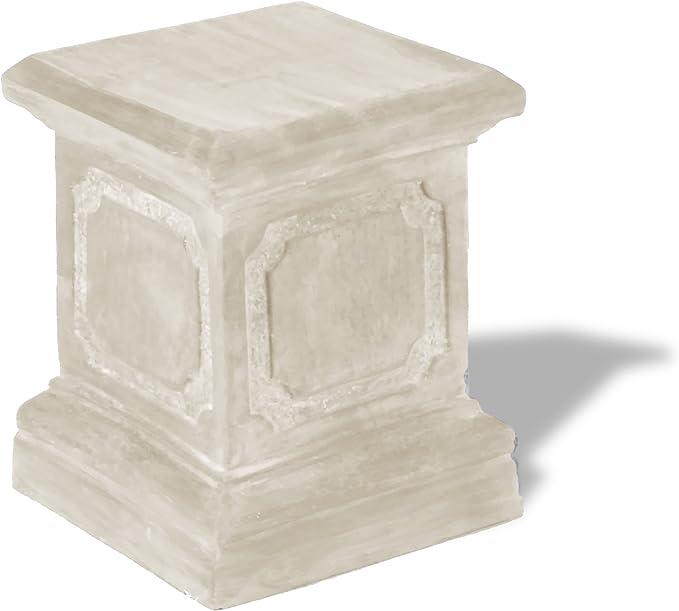 Black 15 by 15 by 20-Inch Amedeo Design ResinStone 1900-1B Paneled Pedestal