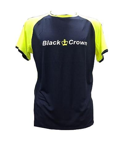 Camiseta Padel Black Crown X5 Marino/Amarillo - XXL
