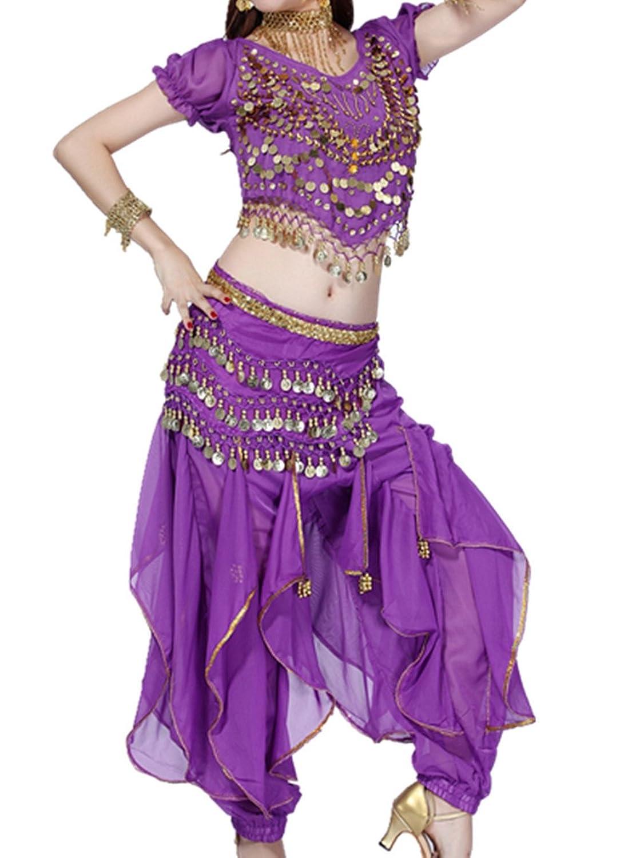 mejor Ropa de baile Traje de danza del vientre Set Tribal Bandage ...