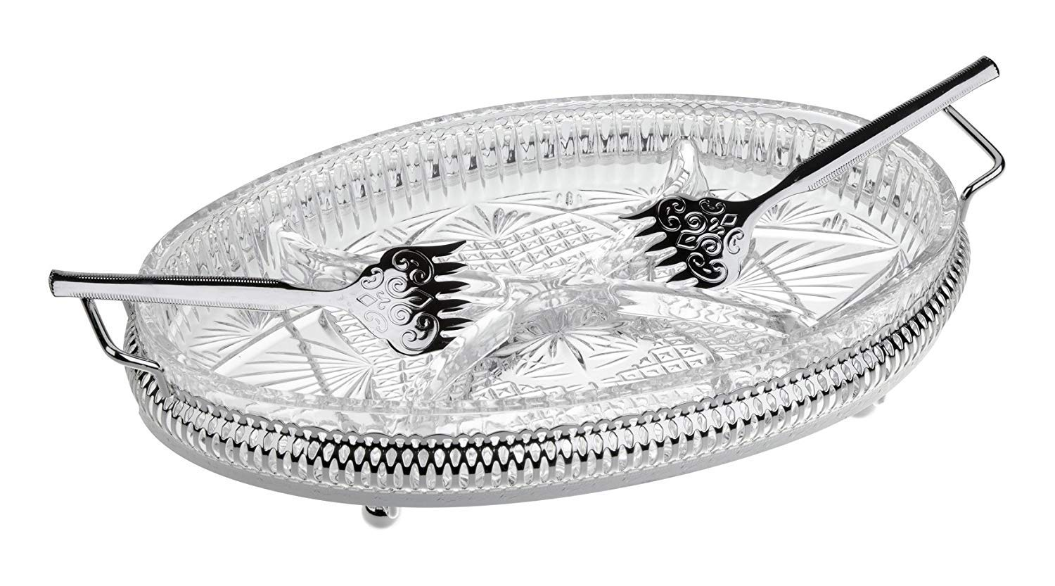 4 Division Hors d'Oeuvre - Silver Plated Queen Anne Tableware Ltd
