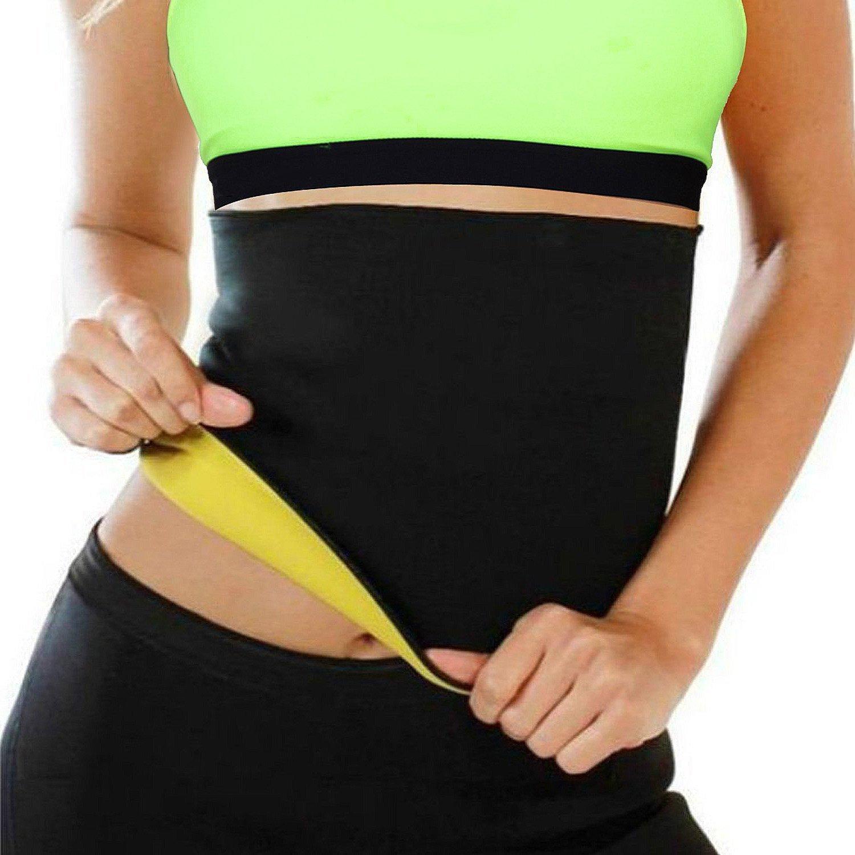 HAMACTIV Neoprene Slimming Belt Hot Shapers Waist Trainer Corset Trimmer Cincher for Weight Loss Women & Men