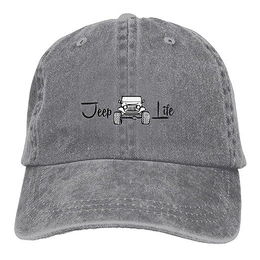 Jeep Life Funny Unisex Adjustable Baseball Cap Dad Hat at Amazon ... 4f4b365ca96