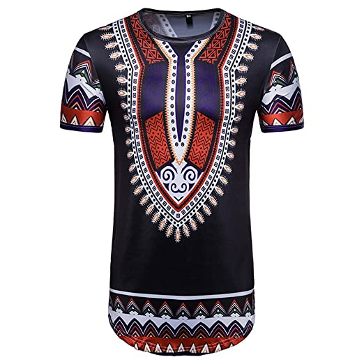 154c050ce5d7 Image Unavailable. Image not available for. Color  African Print T-Shirt  Summer ...