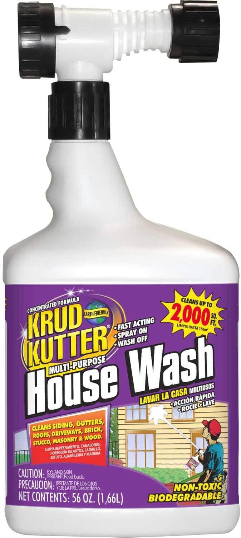Krud Kutter HW56H/4 House Wash, Hose Mount Bottle 4/Case, 56 oz.