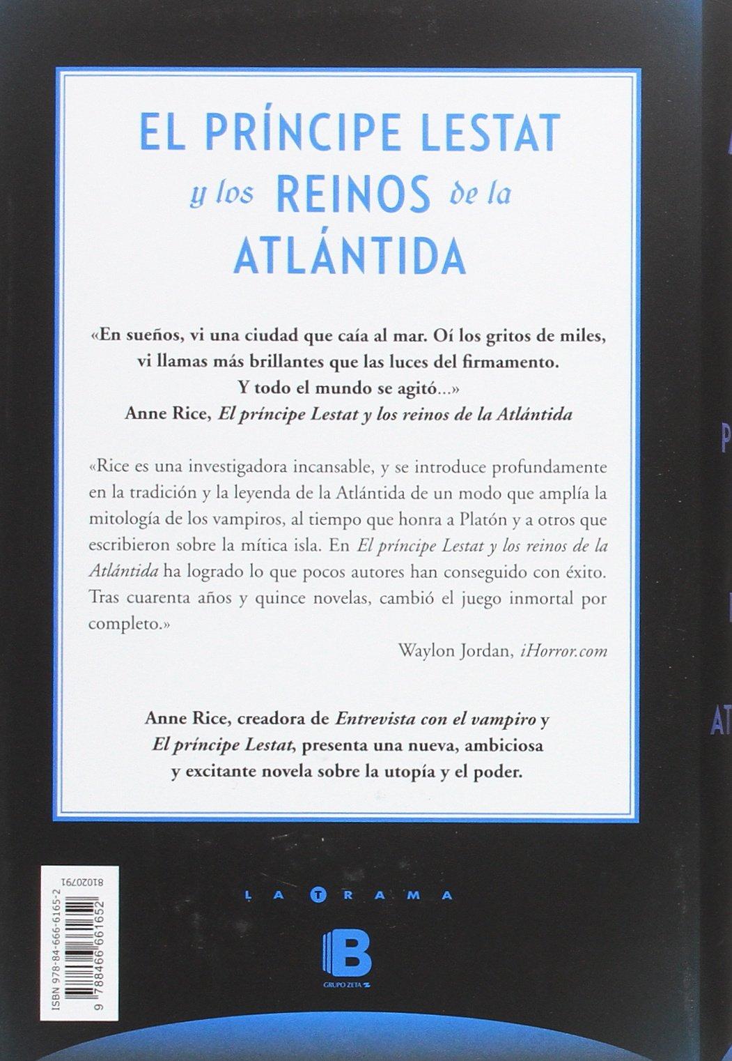 El Príncipe Lestat Y Los Reinos De La Atlántida Crónicas Vampíricas 12 Amazon Es Rice Anne Libros