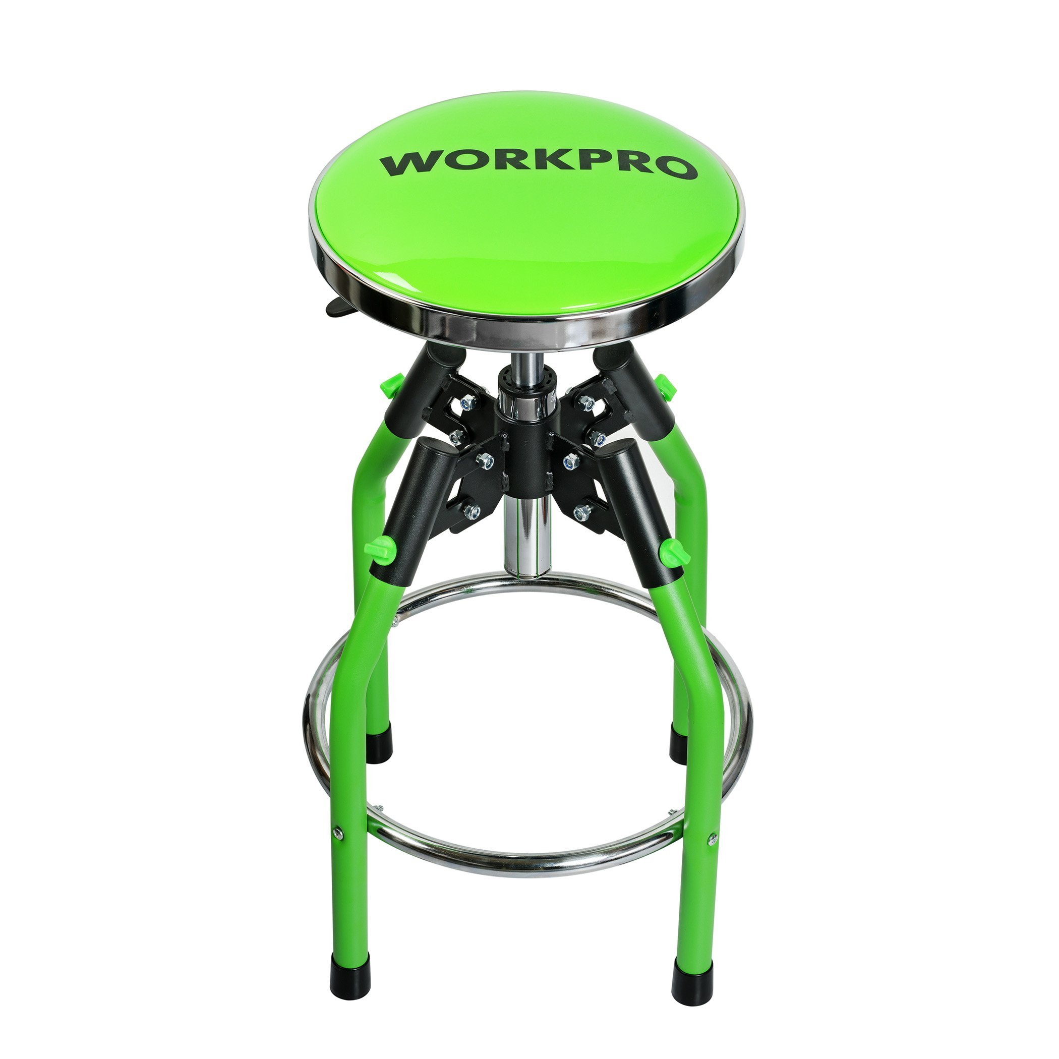 WORKPRO Heavy Duty Adjustable Hydraulic Shop Stool, Green by WORKPRO
