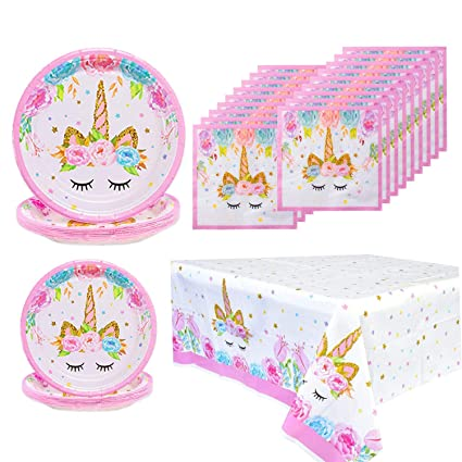 Amazon.com: Unicorn Party Supplies - Juego de servilletas y ...