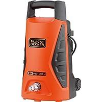 غسالة تعمل بالية الضغط الكهربي بلاك اند ديكر 1300 واط، 100 بار للمنزل والحديقة والسيارات، لون برتقالي / اسود - موديل…
