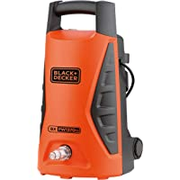 Black+Decker 1300W 100 Bar Electric Pressure Washer for Home, Garden & Cars, Orange/Black - PW1370TD-B5, 2 Years…