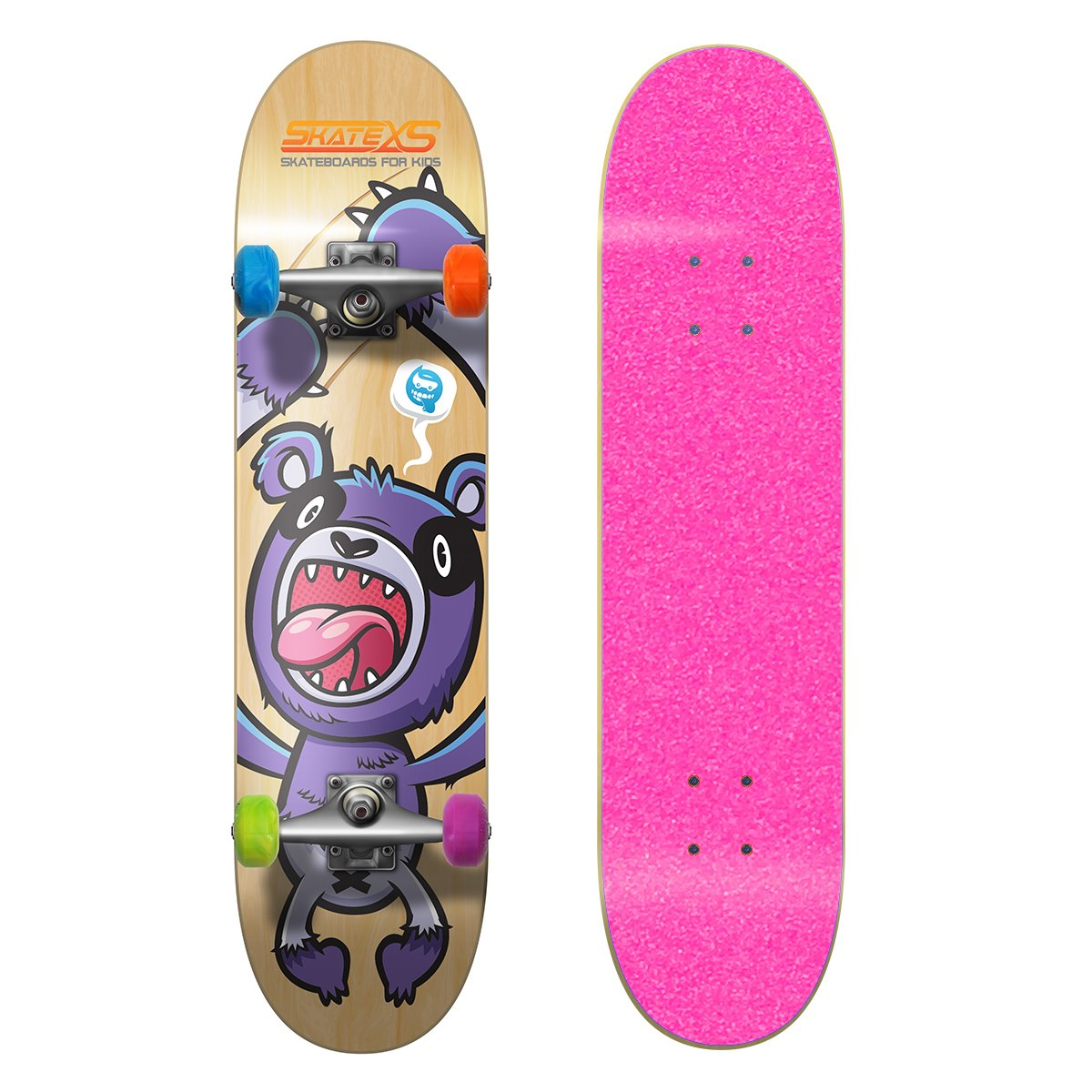 美品  SkateXS 初心者 Wheels パンダ ストリート 初心者 キッズ スケートボード B00YG1VV6G 7.4 x Pink 30 (Ages 11-12)|Pink Grip Tape/ Multi-Color Wheels Pink Grip Tape/ Multi-Color Wheels 7.4 x 30 (Ages 11-12), 【限定価格セール!】:af924275 --- a0267596.xsph.ru