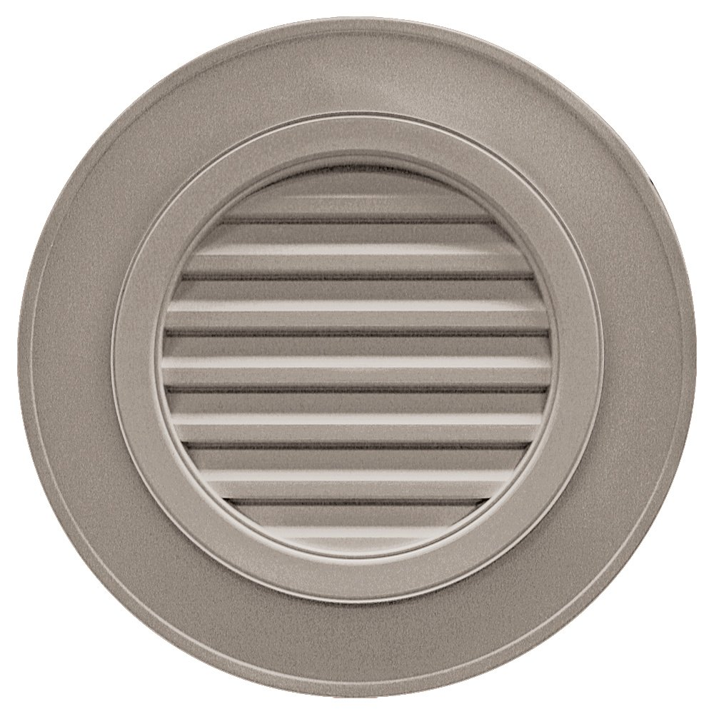 Builders Edge 120032828008 28'' Round Vent Designer without Keystones 008, Clay