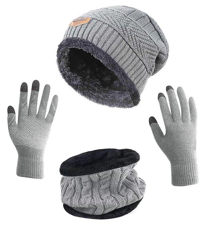 HINDAWI  set de prendas invernales con guantes antideslizantes 401b967f326