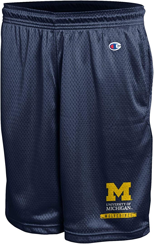 Champion Mens University of Michigan Wolverines Short Classic Mesh Short