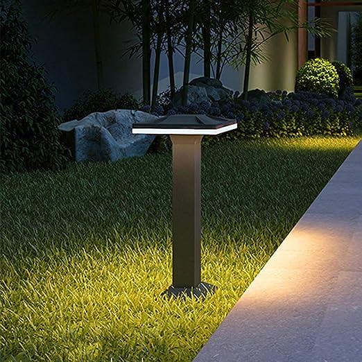 Sockelleuchte impermeable IP54 luz exterior Baliza moderna del césped LED de 15W lámparas impermeables ruta Negro Aluminio + acrílico antracita columna Corredor Patio Jardín Terraza Camino H30CM 6000K: Amazon.es: Iluminación