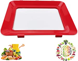 2020 Zero Waste Food Preservation Tray, Reusable Creative Leak proof Healthy Container Tray Set Kitchen Tools Portable Freezer Storage Clever Keep Fruit Vegetable Meat Hot Bacon and Fridge Sticker (1)