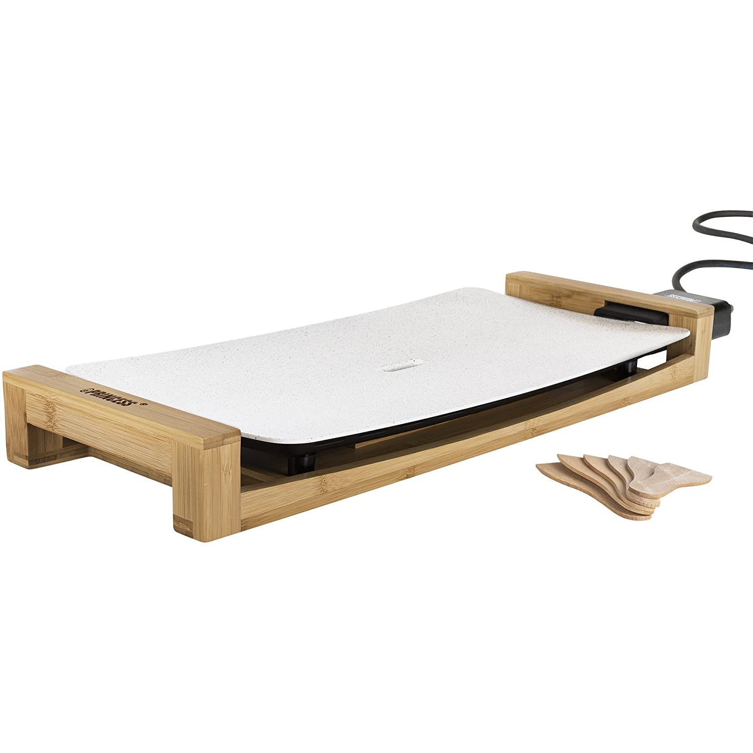 """PRINCESS Electric Griddle """"Table Grill Stone"""" (White)【Japan Domestic genuine products】"""