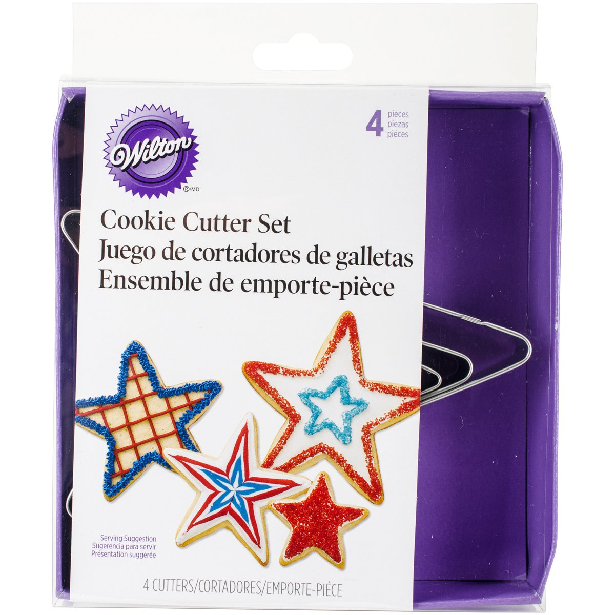 Wilton 2308-1215 Nesting Metal Cookie Cutter Set, Stars