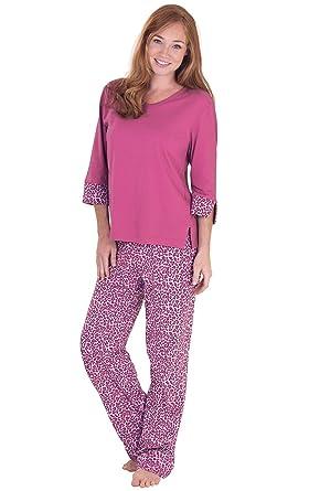 d117e1748 PajamaGram PJs Women Soft Cotton - Leopard Pajamas for Women at ...
