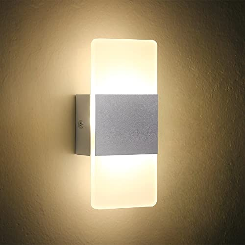 Led Wall Light Bedside Wall Lamp Oenbopo Modern Acrylic Led Bedroom Hallway Bathroom Wall Lamps