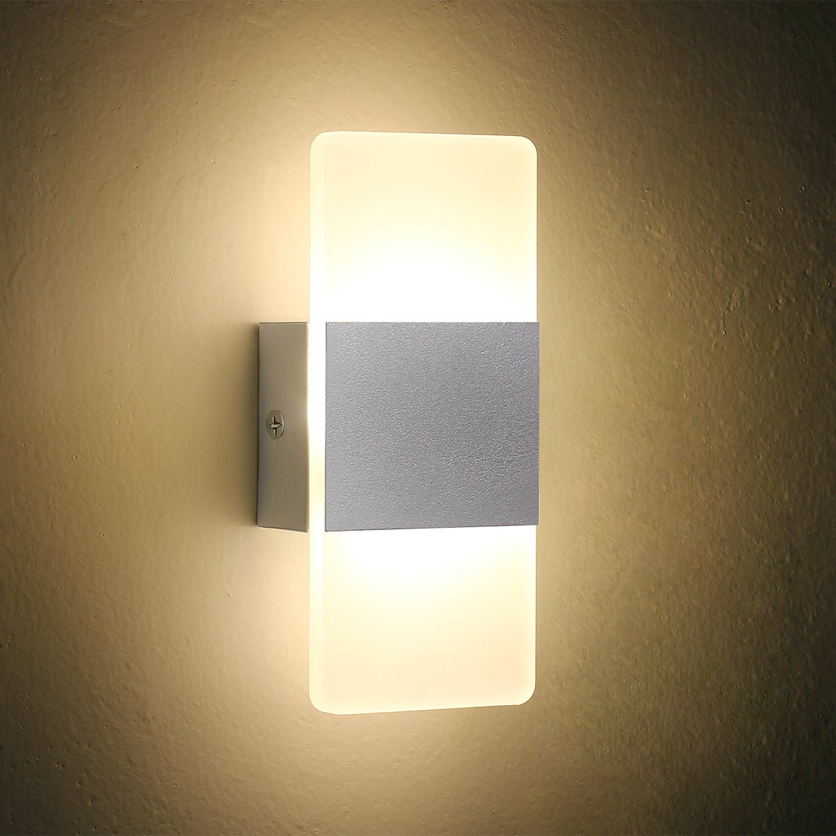 Oenbopo LED Wall Light Bedside Wall Lamp, Modern Acrylic LED Bedroom  Hallway Bathroom Wall Lamps