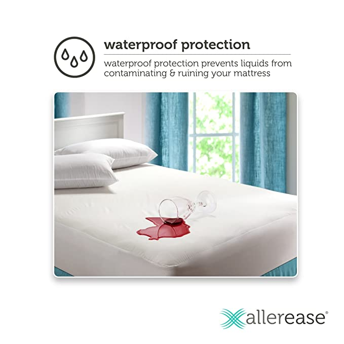 Amazon.com: Mainstays Waterproof Fitted Vinyl Mattress Protector (King): Home & Kitchen