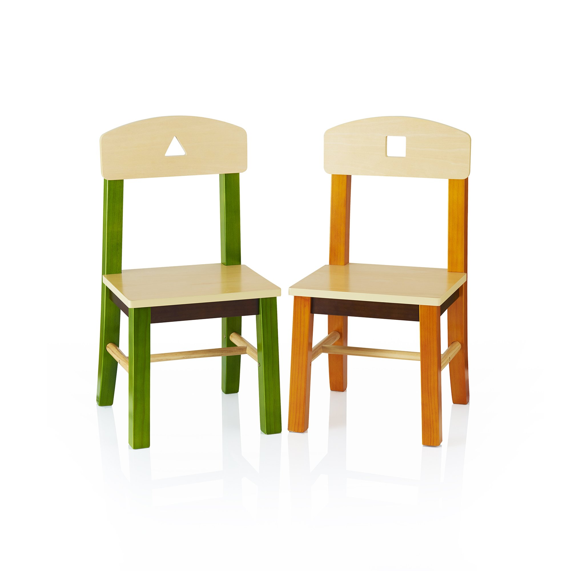 Guidecraft See and Store Extra Chairs Set of 2 - Kids School Furniture