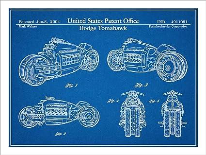 Amazon 2003 dodge tomahawk v12 motorcycle patent print art 2003 dodge tomahawk v12 motorcycle patent print art poster unframed blueprint 18quot malvernweather Gallery