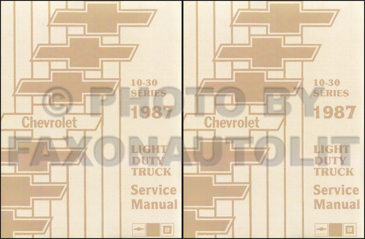 1987 Chevy Pickup Truck Suburban Blazer Van Shop Service Repair ...