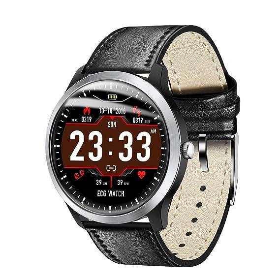 Relojes Inteligentes para Hombres Reloj Deportivo con Monitor de Ritmo cardíaco, IP67 Monitor de Actividad a Prueba de Agua con Monitor de sueño con ...