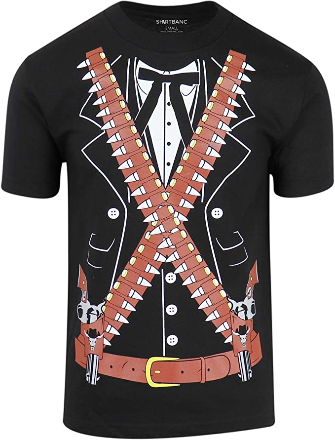ShirtBANC Camisa Mexicana de Pistolero - Negro - Large: Amazon.es: Ropa y accesorios