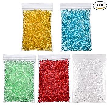 kissealed cuentas para casera crujientes Slime, claro perlas de Pecera para crujientes Slime casera DIY Craft, 5 Color: Amazon.es: Juguetes y juegos