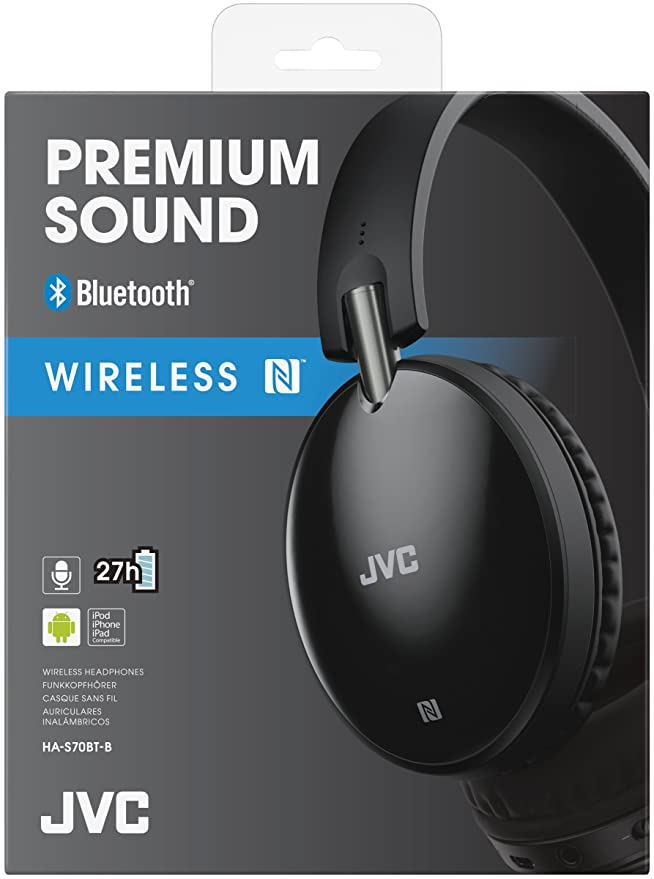 Amazon.com: JVC HAS70BTBE BLACK Premium Sound Bluetooth Around Ear Headphones /Brand New: Home Audio & Theater