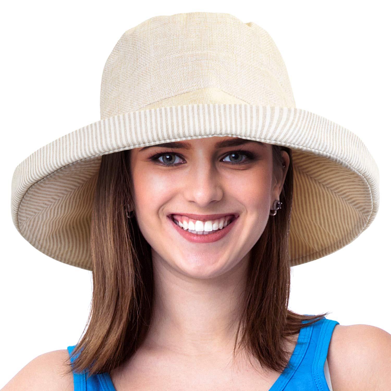 Womens Bucket Hat UV Sun Protection Packable Summer Travel Beach Cap