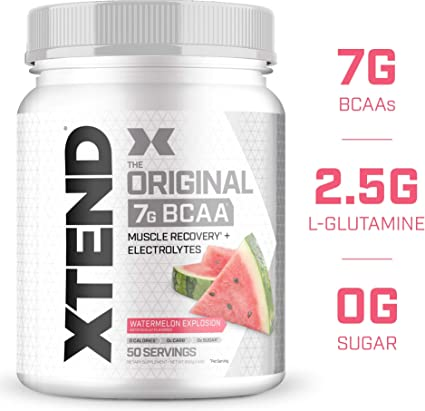 Amazon.com: Xtend Original Bcaa Polvo Azul Frambuesa hielo | Sin ...