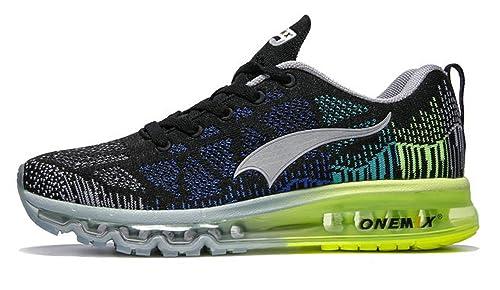 Onemix Air Zapatos para Correr en Montaña y Asfalto Aire Libre y Deportes Zapatillas de Running Padel para Hombre Gris oscuro tamaño 44 EU: Amazon.es: ...
