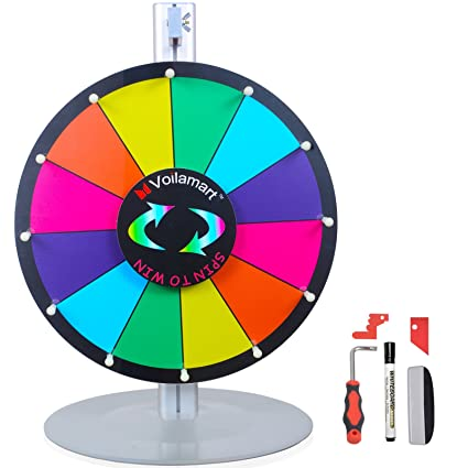 Amazoncom Voilamart 15 Tabletop Spinning Prize Wheel 12 Slots