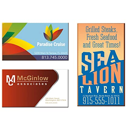 Amazon 500 custom business card magnet printed with your logo 500 custom business card magnet printed with your logo or message in full color colourmoves